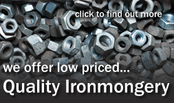 We stock great value quality ironmongery