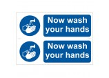 2 x 'Wash Your Hands' Mandatory Sign