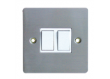 10A, 2 Gang, 2 Way Switch - Stainless Steel