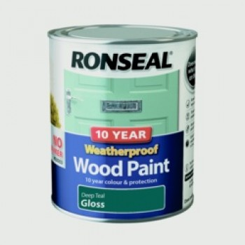 10 Year Weatherproof Gloss Wood Paint - 750ml Deep Teal