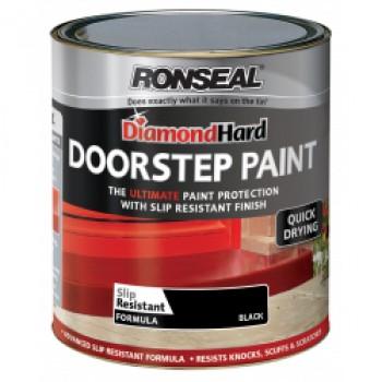 Diamond Hard Door Step Paint 750ml - Black