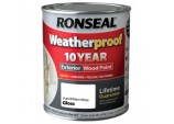 10 Year Weatherproof Wood Paint Gloss 2.5L - Pure Brilliant White
