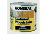 Quick Drying Woodstain Satin 250ml - Black Ebony