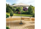 Aluminium Push Up Parasol - 2m Beige