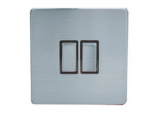 10A, 2 Gang, 2 Way Switch - Chrome