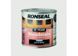10 Year Woodstain Satin 250ml - Ebony