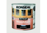 10 Year Woodstain Satin 750ml - Ebony