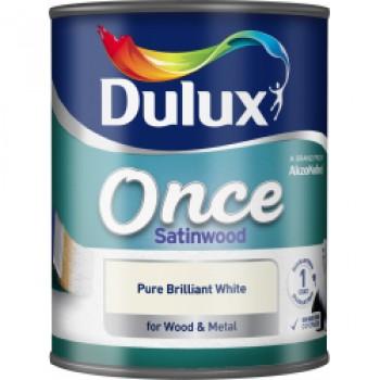 Once Coat Satin Wood 750ml - Brilliant White