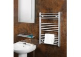 Chrome Straight Towel Rail - 400 x 800mm