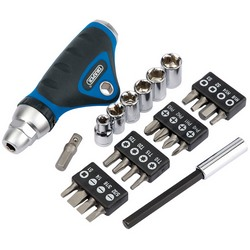 Ratcheting Screwdriver Socket and Bit Set. (25 piece) – Now Only £12.00