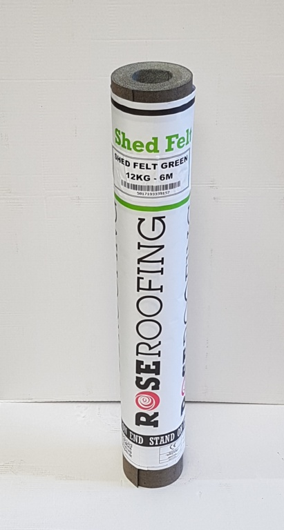 12kg Shed Felt Green 6m – Now Only £18.00