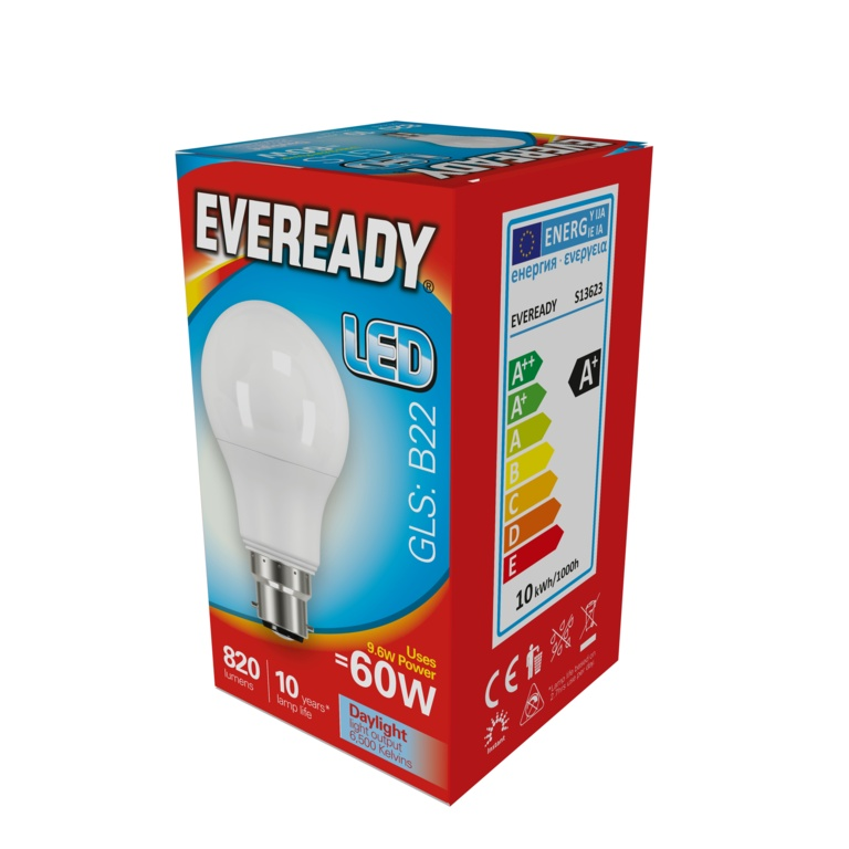 Eveready LED GLS 9.6w B22 – Now Only £1.50