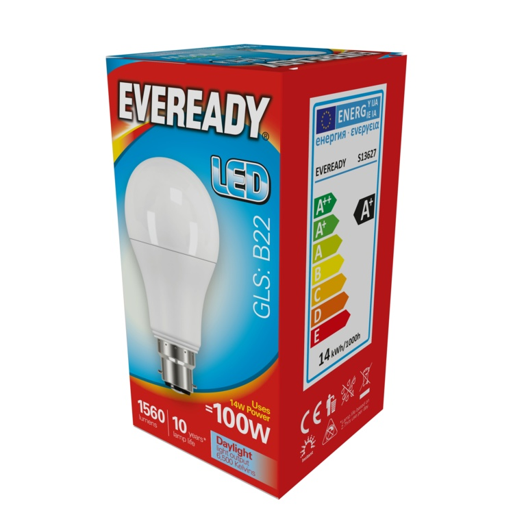 Eveready LED GLS 14w B22 – Now Only £3.00