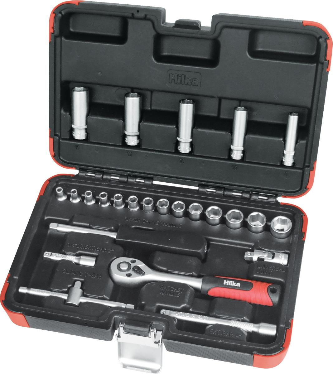 """25 piece 1/4"""" Drive Socket Set Metric Pro Craft – Now Only £18.00"""