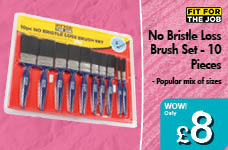 No Bristle Loss Brush Set - 10 Pieces – Now Only £8.00